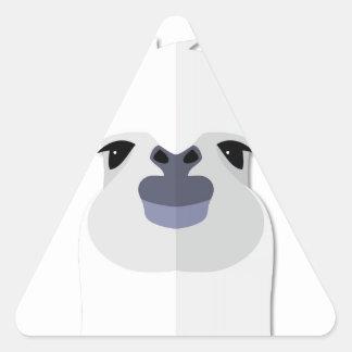 Cartoon Llama Head Triangle Sticker