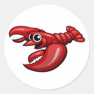 Cartoon Lobster Classic Round Sticker