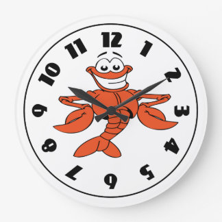 Cartoon Lobster Clock