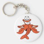 Cartoon Lobster Keychain Basic Round Button Keychain