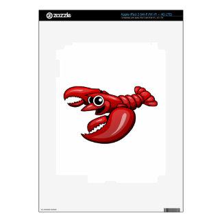 Cartoon Lobster Decals For iPad 3