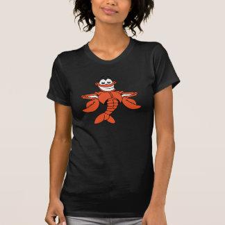 Cartoon Lobster Womens T-Shirt