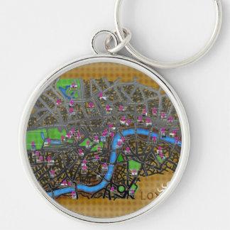 Cartoon London map Keychain