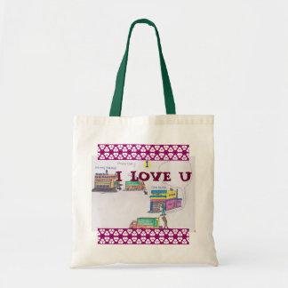 Cartoon lovely tote bag