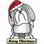 Cartoon Lowchen Christmas Ornament Photo Cut Out