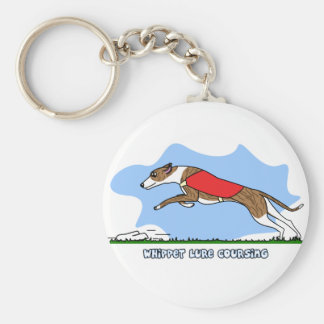 Cartoon Lure Coursing Whippet Keychain