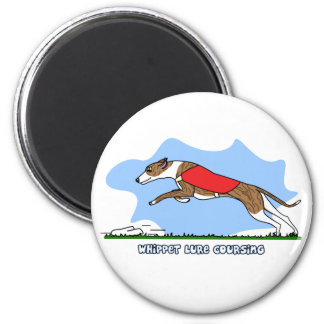 Cartoon Lure Coursing Whippet Refrigerator Magnets