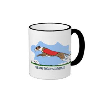 Cartoon Lure Coursing Whippet Coffee Mugs