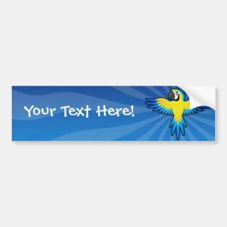 Cartoon Macaw / Parrot Bumper Sticker