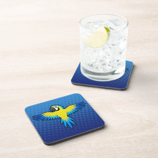 Cartoon Macaw / Parrot Drink Coaster