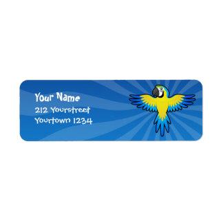 Cartoon Macaw / Parrot Label