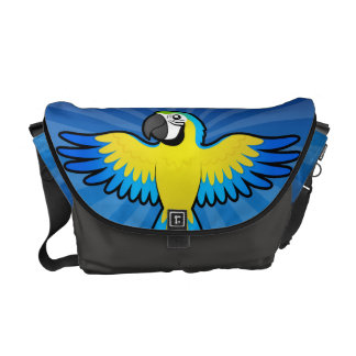 Cartoon Macaw / Parrot Courier Bags