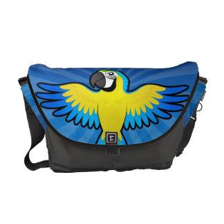 Cartoon Macaw / Parrot Messenger Bag