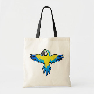 Cartoon Macaw / Parrot Tote Bag
