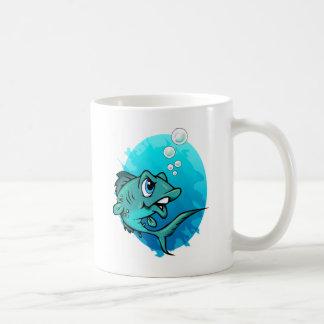 Cartoon Mad Fish Mugs