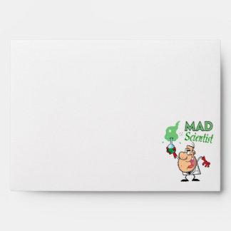 cartoon mad scientist envelopes