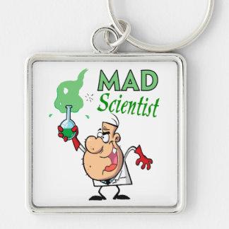 cartoon mad scientist key chain