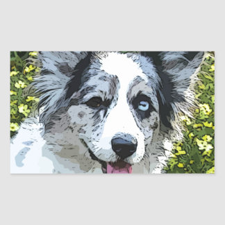 Cartoon Maggie Girl Rectangular Sticker