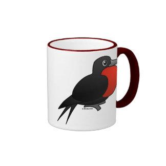 Cartoon Magnificent Frigatebird Ringer Mug