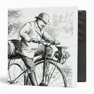 Cartoon making fun of the early days of Bicycles 3 Ring Binder