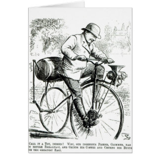 Cartoon making fun of the early days of Bicycles Card