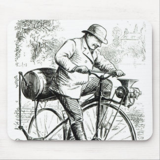 Cartoon making fun of the early days of Bicycles Mouse Pad