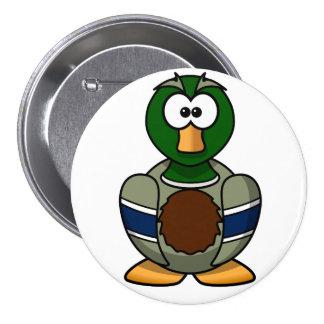 Cartoon Mallard Duck Button