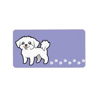 Cartoon Maltese (puppy cut) Address Label