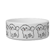 Cartoon Maltese (puppy cut) Bowl