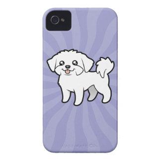Cartoon Maltese (puppy cut) iPhone 4 Case-Mate Case
