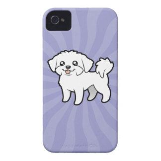 Cartoon Maltese (puppy cut) iPhone 4 Covers
