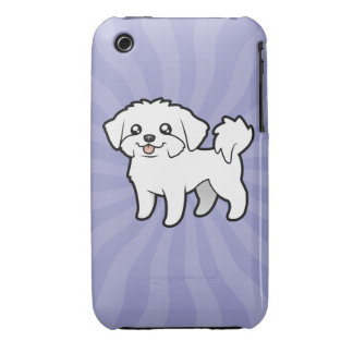 Cartoon Maltese (puppy cut) iPhone 3 Cases
