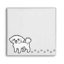 Cartoon Maltese (puppy cut) Envelope