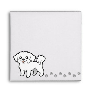 Cartoon Maltese (puppy cut) Envelope