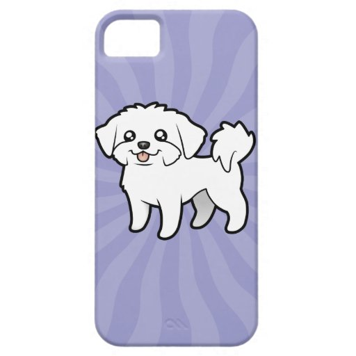 Cartoon Maltese (puppy cut) iPhone 5 Covers