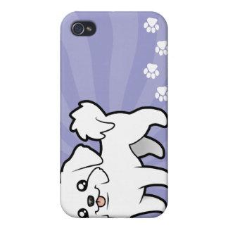 Cartoon Maltese (puppy cut) iPhone 4 Case