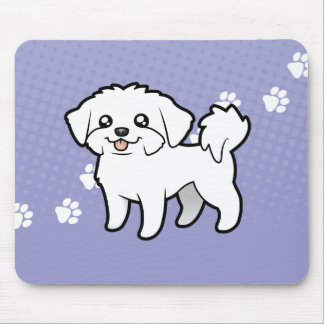 Cartoon Maltese (puppy cut) Mouse Pad