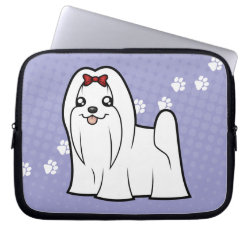 Neoprene Laptop Sleeve 10 inch with Maltese Phone Cases design