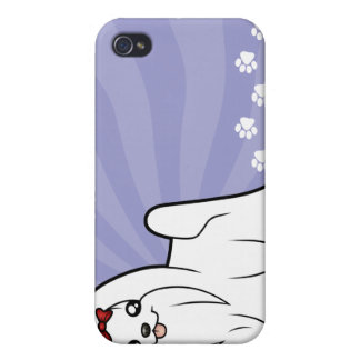 Cartoon Maltese (show cut) Covers For iPhone 4
