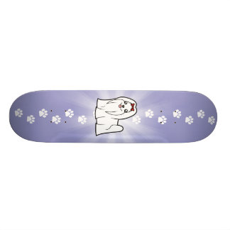 Cartoon Maltese (show cut) Skateboard