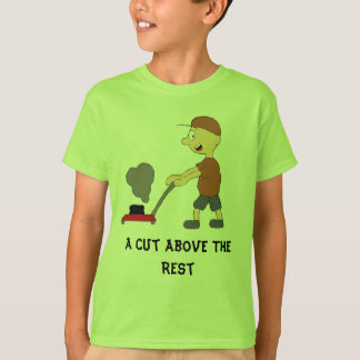 Cartoon Man With Lawnmower T-Shirt