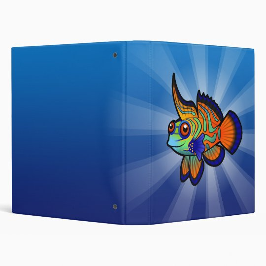 Cartoon Mandarin / Dragonet Fish 3 Ring Binder