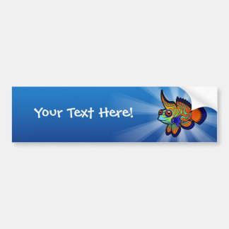 Cartoon Mandarin / Dragonet Fish Bumper Sticker