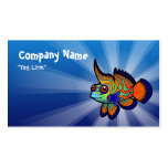 Cartoon Mandarin / Dragonet Fish Double-Sided Standard Business Cards (Pack Of 100)