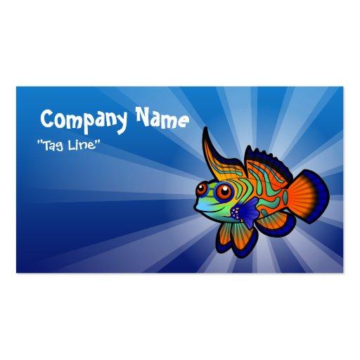 Cartoon mandarin dragonet fish business card zazzle for Cartoon business cards