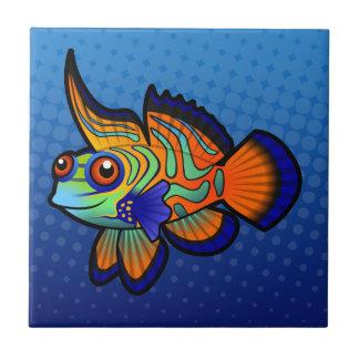 Cartoon Mandarin / Dragonet Fish Ceramic Tile