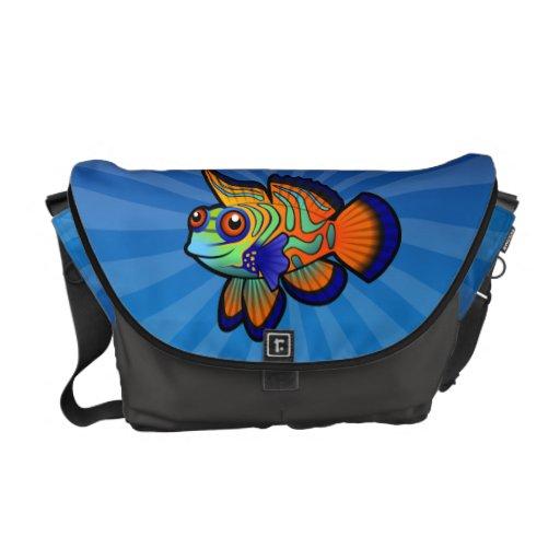 Cartoon Mandarin / Dragonet Fish Courier Bag