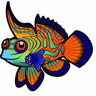 Cartoon Mandarin / Dragonet Fish Cutout