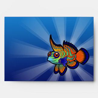 Cartoon Mandarin / Dragonet Fish Envelope
