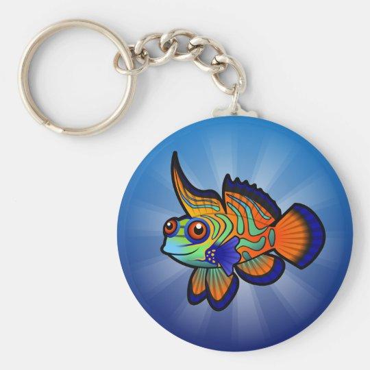Cartoon Mandarin / Dragonet Fish Keychain